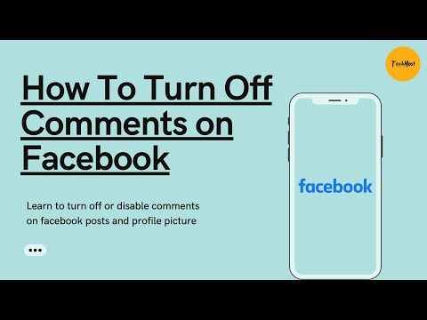 How To Turn Off Comments On Facebook How To Disable Comments On Facebook Post Profile Picture Yo Facebook Posts Facebook Settings Facebook Profile Picture