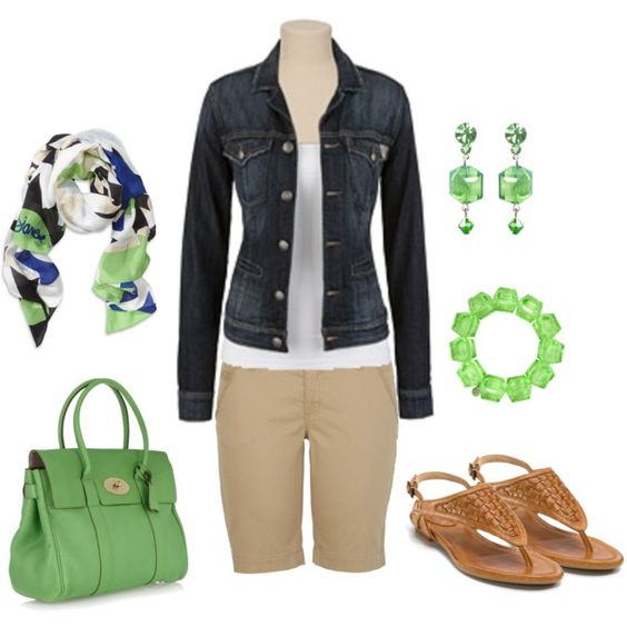 Green Envy, created by hoplet6: Dream Closet, Color, Imaginary Closet, Scarf, Spring Outfit