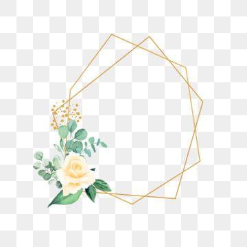 Gold Frame With Watercolor Flower Green Flower Rustic Png Transparent Clipart Image And Psd File For Free Download Flores Em Aquarela Folhas De Aquarela Ilustracao De Rosa