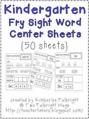 Free Sight Word practice.