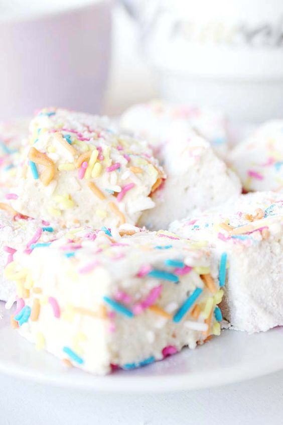 Marshmallows mit Vanille.  #Hochzeit #Wedding #CandyBar  #Deko #Süßes