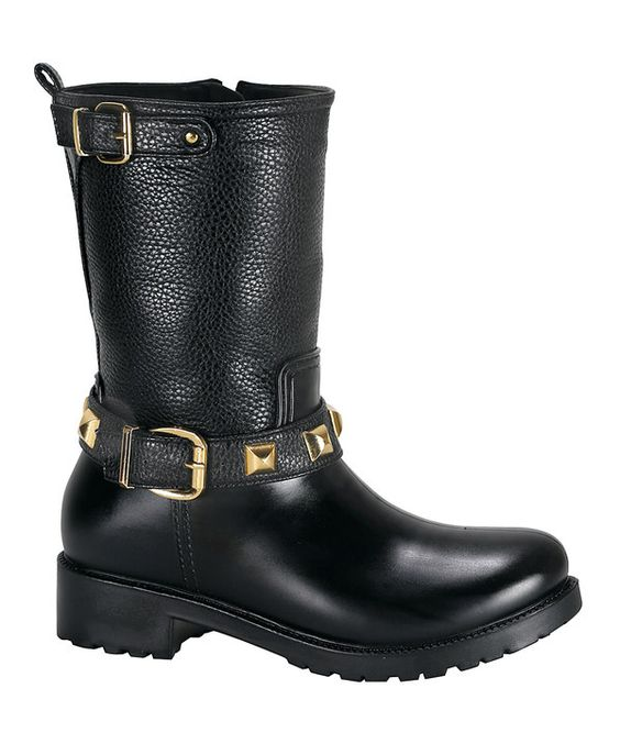 Look at this Black Double-Buckle Rainforest Boot on #zulily today!