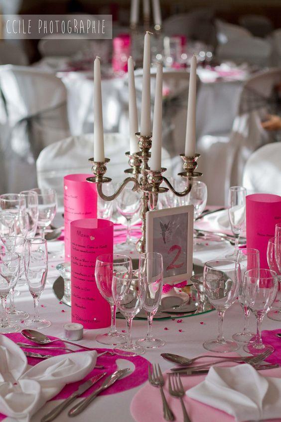 rose pâle et rose fuchsia avec une note de gris mariage gris et ...