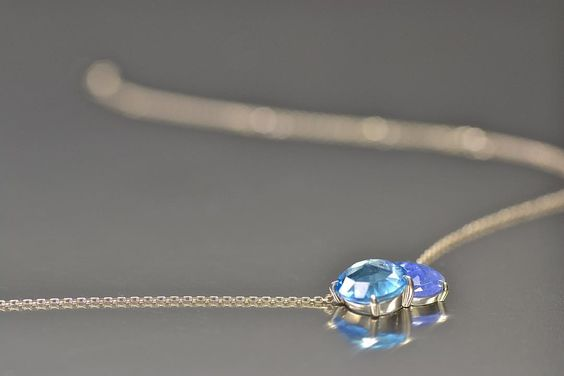 Presenting today the first piece of our latest Calyx collection, this Blue Topaz…