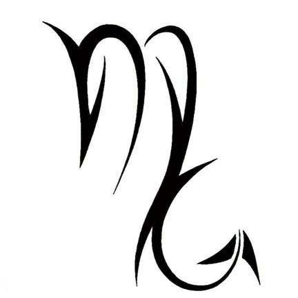 Scorpio Zodiac Symbol Tattoo Design