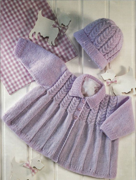 Vintage Baby Cardigan Knitting Pattern : Pinterest   The world s catalog of ideas