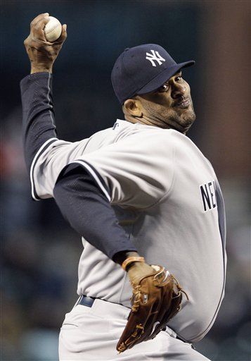 Wednesday, April 11, 2012 - New York Yankees starting pitcher CC Sabathia throws…