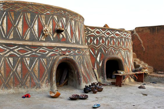 Africa | Traditional houses of the Sirigu, Ghana | © Johan Gerrits:
