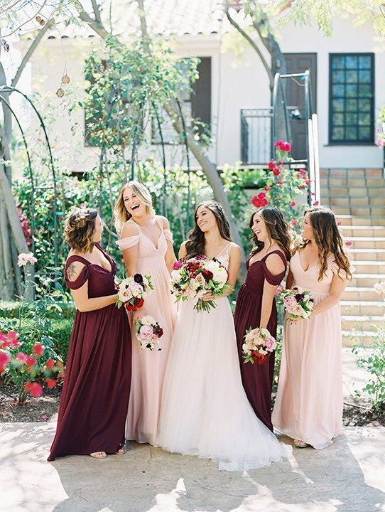 Fall Bridesmaid Dresses Mix And Match Burgundy And Blush Bridesmaid Dresses With Fall Bridesmaid Dresses Burgundy And Blush Wedding Blush Bridesmaid Dresses