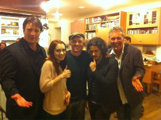 OMG@Dale Norman!                Nathan Fillion, Felicia Day, Simon Pegg, Edgar Wright, and Anthony Head. As if this wasn't awesome enough, they're all at Joss Whedon's house.