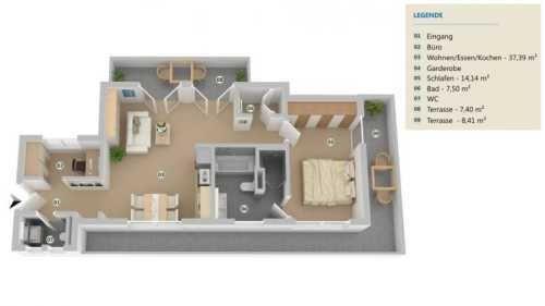 3d Grundriss Von 2 5 Zimmer Wohnung Immobilienmarkt Faz Net Wohnung Kaufen 5 Zimmer Wohnung Wohnung