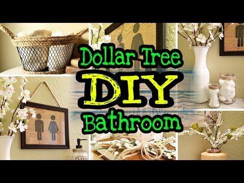Dollar Tree Farmhouse Diy Bathroom Decor Youtube Diy Bathroom Decor Diy Bathroom Farmhouse Diy