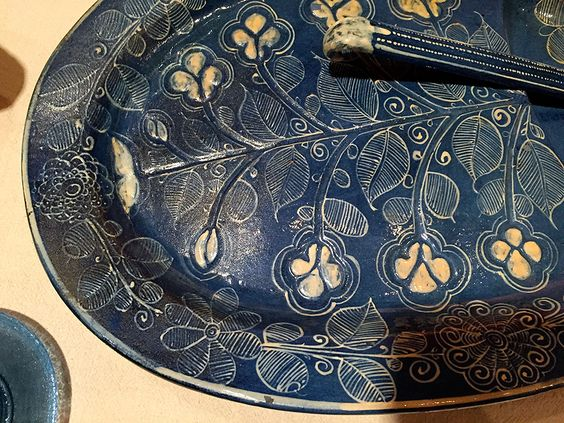 Patterns on very old pottery, Latino Art Museum, Denver