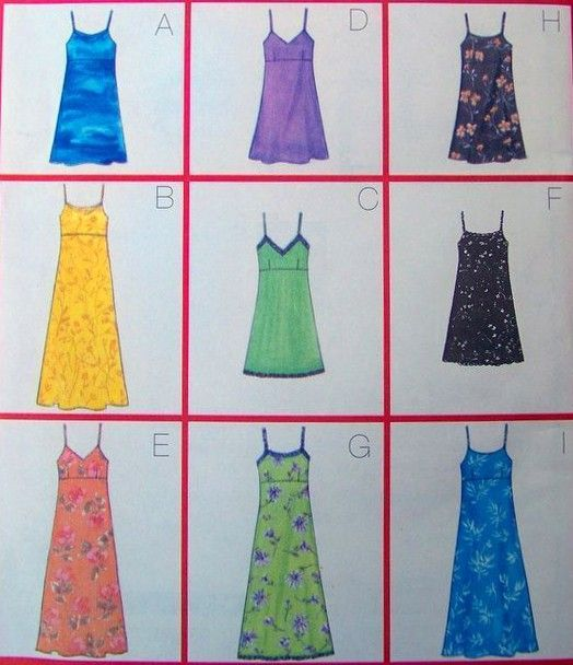 Butterick 5540 - Sun dresses in different lengths and with neckline variations. (1998, no longer in print)