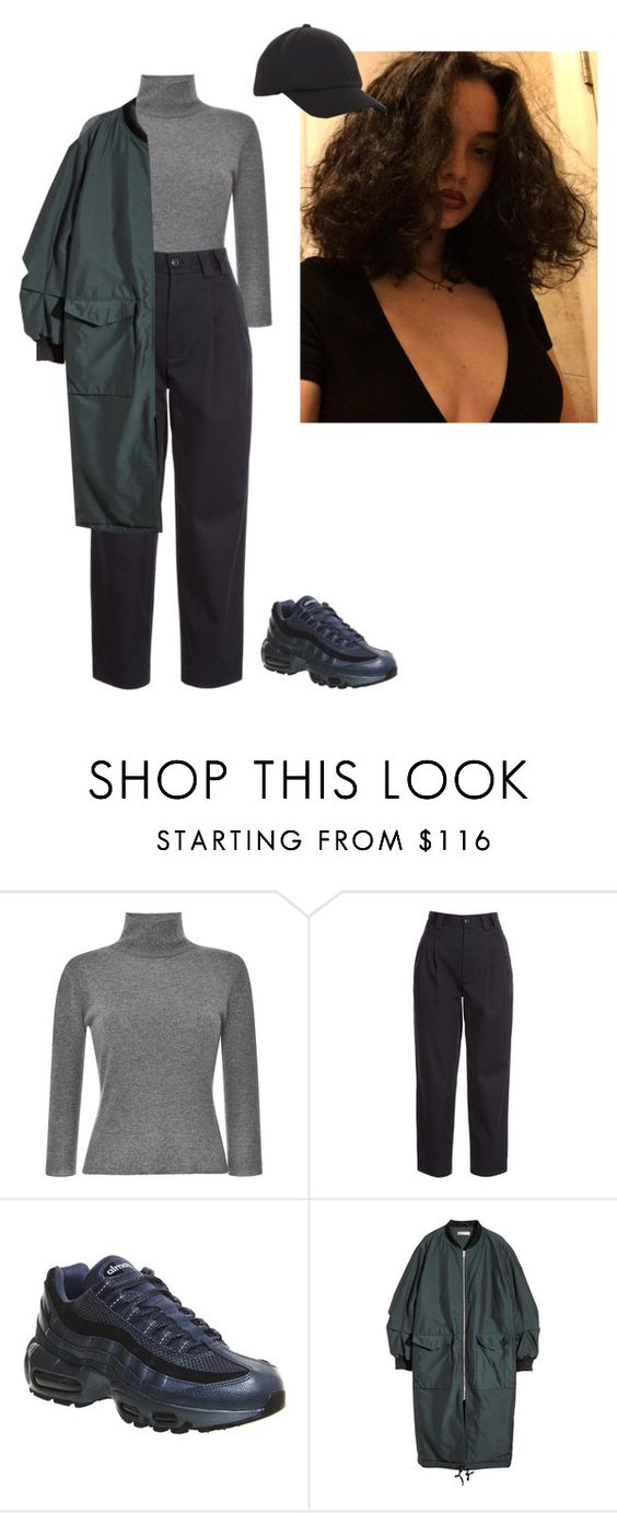 """""""Sans titre #315"""" by pauline93 ❤ liked on Polyvore featuring Blumarine, RED Valentino, NIKE, H&M and BCBGeneration"""