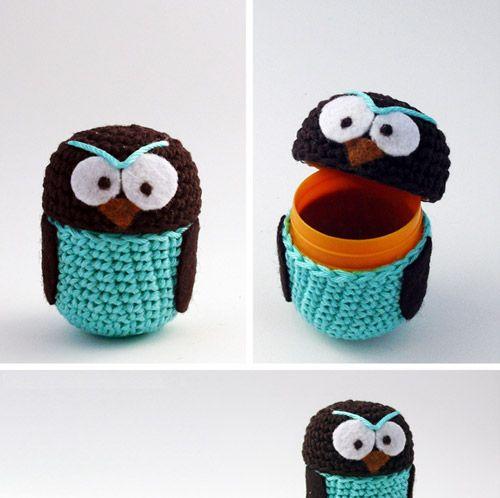 Owl Amigurimi Egg Dolls!