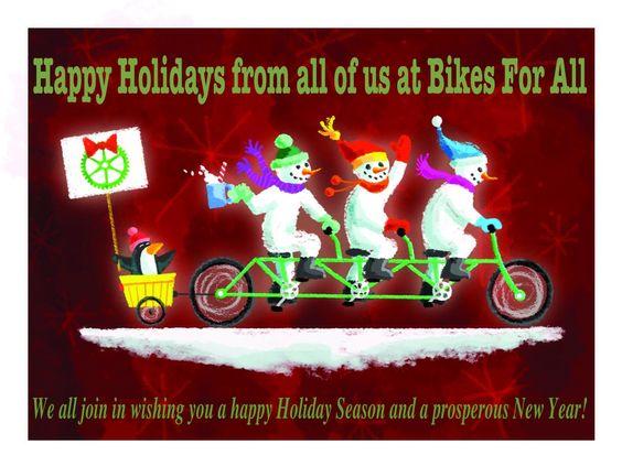 Happy Holidays Bikesforall Bike Shop Pinterest