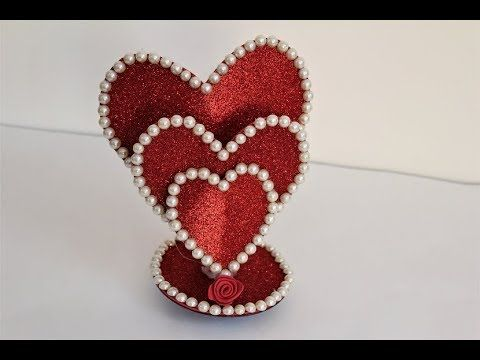 Diy Beautiful Heart Showpiece Gifts Ideas 2019 Beautiful Heart Showpiece Y Diy Valentines Gifts Diy Valentines Decorations Vintage Valentines Decorations