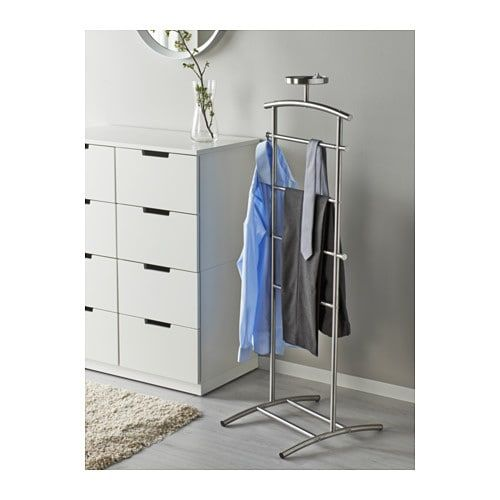 Grundtal Valet Stand Stainless Steel 128 Cm Valet Stand Ikea