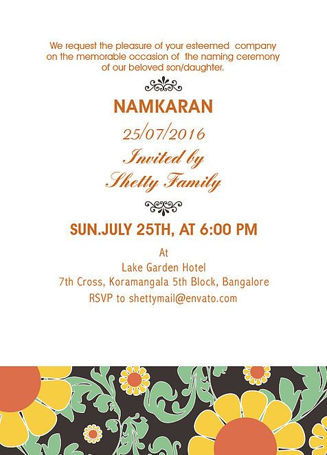 Invitation Card Baby Naamkaran Function Google Search With