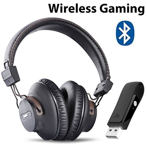 Avantree Wireless Gaming Headphones With Mic Usb Audio Adapter Chat Music Simultaneously No Audio Delay 40hrs Play Time Bluetooth Headset For Ps4 Pc N Gaming Headphones Best Bluetooth Headphones