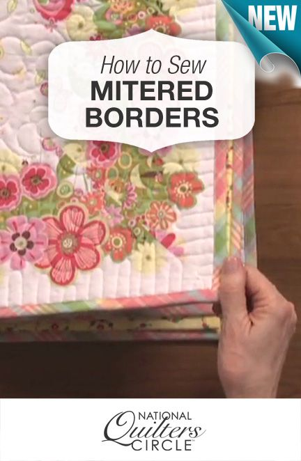 youtube how to make mitered corners on quilt borders