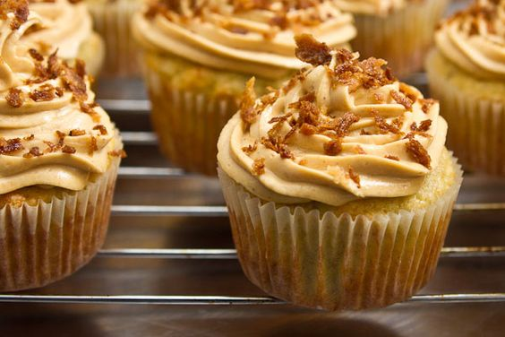 Peanut butter banana cupcakes. We added some peanut butter to the ...