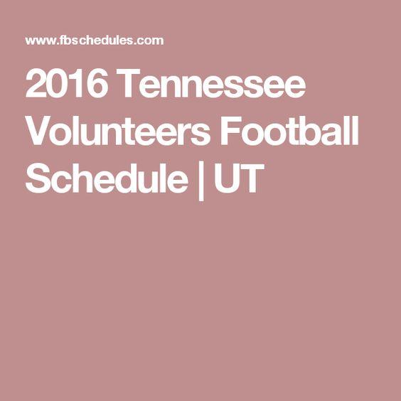 2016 Tennessee Volunteers Football Schedule | UT