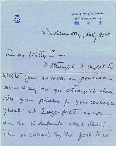 Wallis Simpson Autographed Handwritten Letter Written Just