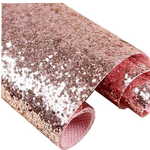 Self Adhesive Rose Gold Chunky Glitter Wallpaper Sparkle Sequins Fabric 17 4in X 16 Rose Gold Glitter Wallpaper Pink Glitter Wallpaper Gold Sequin Wallpaper