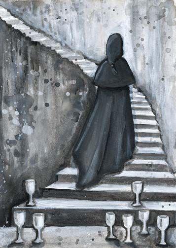 eight of cups -- Phantomwise Tarot -- If you love Tarot, visit me at www.WhiteRabbitTarot.com