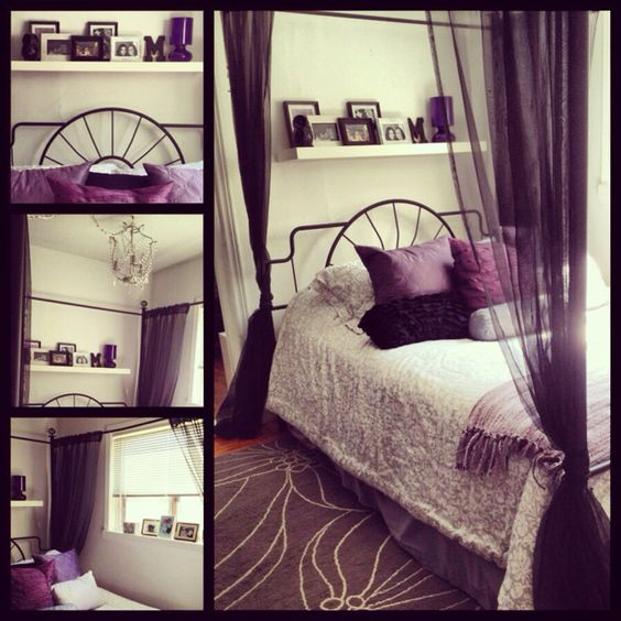 my bedroom purple black grey and white my stuff pinterest grey poster beds and bedroom ideas. Black Bedroom Furniture Sets. Home Design Ideas