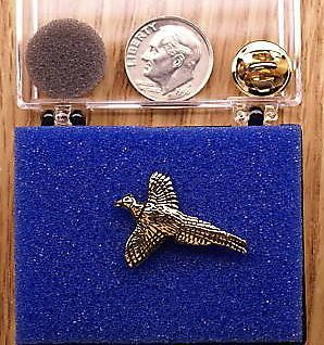 24K Gold Plated  Pewter Pheasant  Hunting by OnTargetJewelry, $17.99