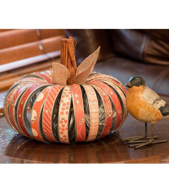 Fall Mason Jar Ring Pumpkin
