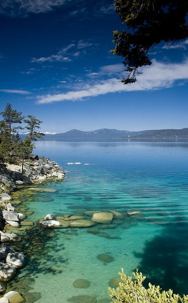 Lake Tahoe. Love this place. I was here in the winter. Snowmobile and a great view