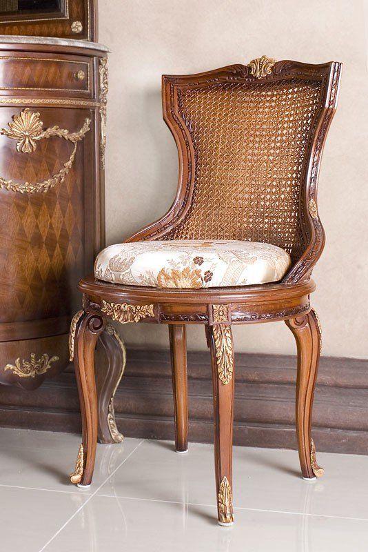 Armlehnstuhl Landhausstil Sessel Armlehnsessel Esszimmerstuhl Polsterstuhl Antik