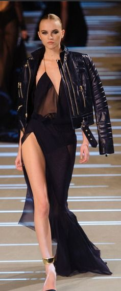 Biker Jacket over Gown :) Alexandre Vauthier at Couture Spring 2013