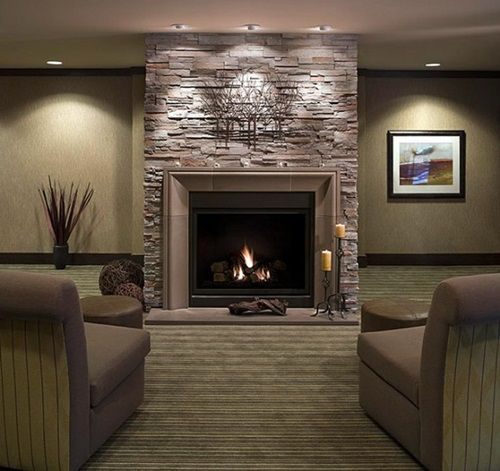 Amazing Ideas For Modern Kitchens With Fireplaces Modern