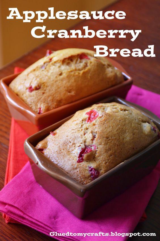 Applesauce Cranberry Bread