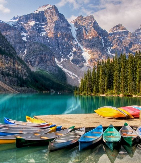 Canoeing At Moraine Lake In Lake Louise Alberta One Of The Top 10 Places To Visit In Your