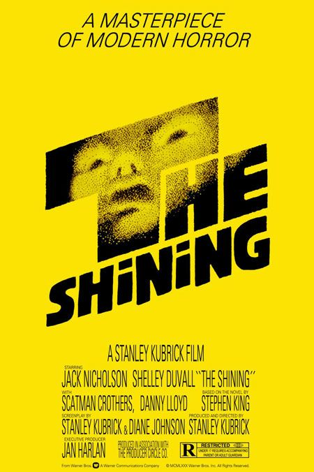 "M1 Inspiring Graphic Design: Saul Bass was a famous American graphic designer who created a lot of recognizable, iconic movie posters in the 20th Century. This movie poster is for Kubrick's The Shining. I like the playful font, vintage yellow color, and the scary face image in the letter ""T."""