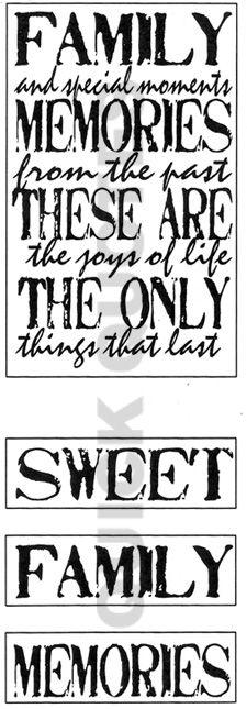 Quick Quotes Vellum Sweet Family Memories Quote Live