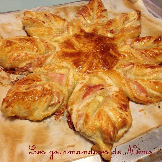 Etoile feuillet e bacon comt soleil feuillet sal pate feuillet e en forme d 39 toile pour l - Recette soleil pate feuilletee ...