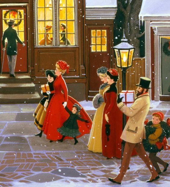 Christmas Shopping Street: