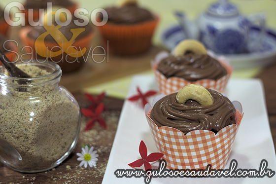 Cupcakes de Banana Diet, Sem Glúten e Sem Lactose » Liquidificador, Receitas Saudáveis, Tortas e Bolos » Guloso e Saudável