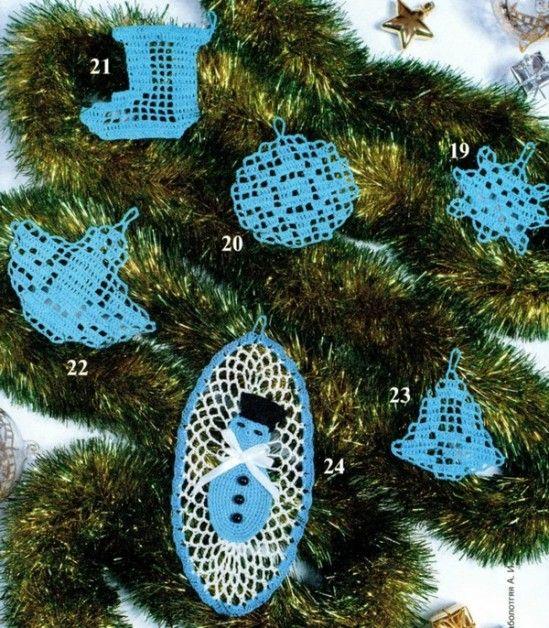 noel 10 de cicikore: Christmas Crochet, Ornaments Crochet, Crochet Pattern Free, Crochet Christmas, Christmas Ornaments, Crochet Patterns, Christmas Applique, Christmas Tree Ornaments