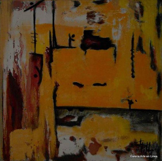 Vida Caliente - Gilda Solis Categoría: Pintura.Técnica: Oleo y arenas sobre lienzo. Medidas: 80 x 80 cms.Fecha: 2006.Enmarcada: Si. Firmada: Si.
