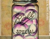 """Canning Ball Jar Orange Carrots Green Floral Wallpaper Putting Up The Season Series Large 24"""" x 30"""" Canvas-Wrapped Frame: Carrots. $120.00, via Etsy."""
