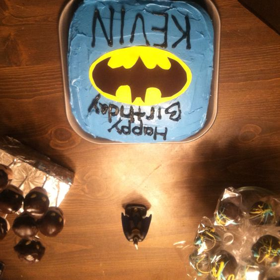Kevin's Batman table of goodies.