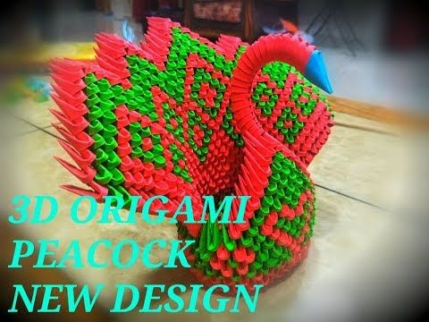 How To Make 3D Origami Peacock - crazzy crafting | 360x480